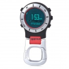 Spovan Elementum II Red-A Multifunction Handheld Sport Watch w/ Barometer Compass - Red + White