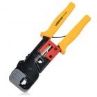 LODESTAR L21376E Professional Network Telephone Plug Crimping Tool Pliers - Yellow + Black