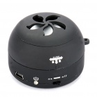 Stylish Ultra Portable USB Rechargeable Speaker - Black (3.5mm/DC 5V)