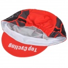 TOPCYCLING Moda Outdoor Sports Hat Sweat-absorvente - Preto + Vermelho