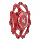 AEST AEST-14-11 Bicycle Aluminium Alloy Wheels Rear Derailleur Pulley - Red