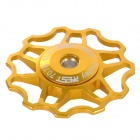 AEST AEST-14 Bicycle Aluminium Alloy Wheels Rear Derailleur Pulley - Golden