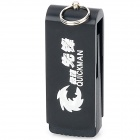 Portable Revolving Keyring Aluminum Alloy USB 2.0 Flash Drive - Black (32 GB)