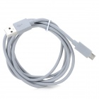 USB Male to Micro USB 5-Pin Male Charging/Data Cable for Mobile Phone - Grey + Silver (150cm)