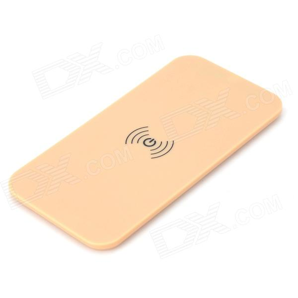 A9 ABS Qi Standard Ultra-thin Wireless Charger Board - Beige + Black universal qi wireless charger for cellphone black