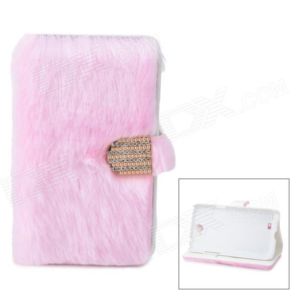 Protective Plastic + Fuzz Case Cover for Samsung Galaxy Note 2 N7100 - Pink чехол клип кейс samsung protective standing cover great для samsung galaxy note 8 темно синий [ef rn950cnegru]