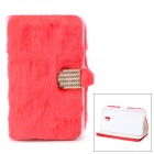 Protective Plastic + Fuzz Case Cover for Samsung Galaxy Note 3 N9000 - Red