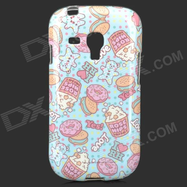 Protection TPU pour Samsung Galaxy S3 Mini i8190 / i8160 - bleu + rose + multicolore