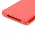Stylish Protective PU Leather Case for Sony L39h - Red