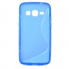 """S"" Style Protective TPU Back Case for Samsung Galaxy Express 2 G3815 - Blue"