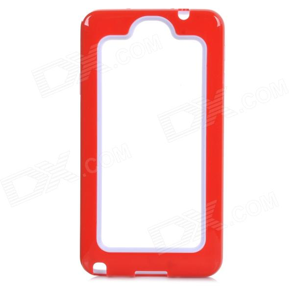 Protective PC + Silicone Bumper Frame Case for Samsung Galaxy Note 3 N9000 - Red + White pannovo silicone shockproof fallproof dustproof case for samsung galaxy note 3 camouflage green