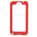 Protective PC + Silicone Bumper Frame Case for Samsung Galaxy Note 3 N9000 - Red + White