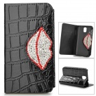 Alligator Pattern Protective PU Flip Open Case w/ Stand / Card Slot for Samsung Note 3 N9000