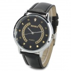 1091 Stylish Analog Quartz Wristwatch - Black (1 x SR626SW)