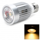 E27 7W 570lm 3200K COB LED Warm White Spotlight Bulb - Silver + White (100~240V)
