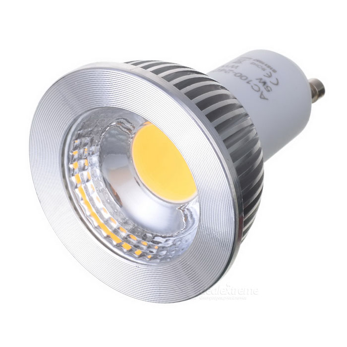 GU10-COB-5W-V GU10 5W 400lm COB LED Warm White Spotlight Bulbo 100 ~ 240V