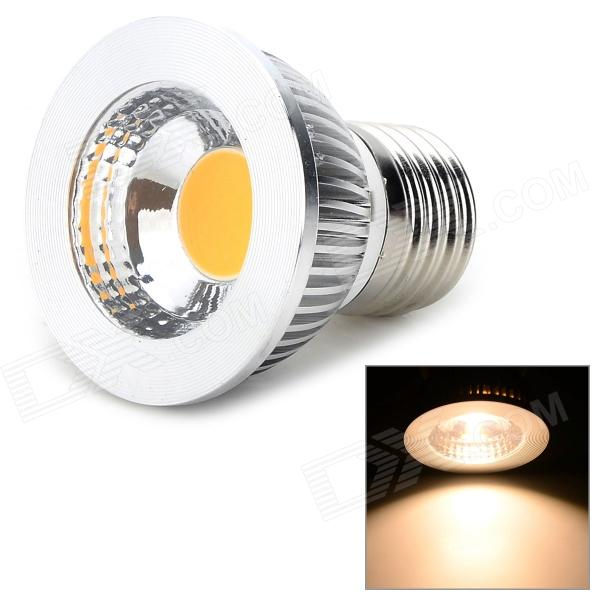 S/n-E27-v-5W E27 5W 400lm s/n chaud LED Spotlight blanc ampoule - Orange + argent (85 ~ 265V)