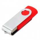 Ourspop U019 Swivel USB 2.0 Flash Drive - Red + Silver (32GB)
