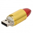 Lipstick Style USB 2.0 Flash Drive - Black + Golden + Red (32GB)