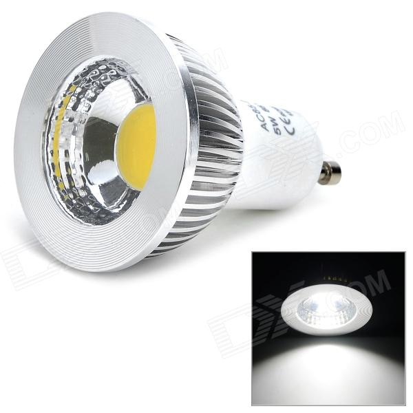 GU10 5W 400lm 6000K COB Lamp (AC 85~265V) kinfire kf1 5w 400lm 6000k 1 cob led white light ceiling lamp white silver ac 85 265v