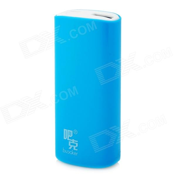 Buccker i9c Mobile External 5200mAh Power Bank for Tablet PC / Cell Phone - Blue portable 6000mah power bank w flashlight for mobile tablet pc more pink white