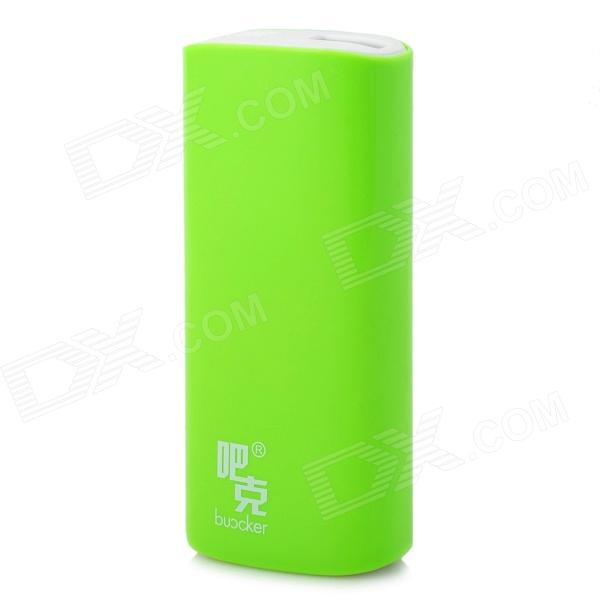 Buccker i9c Mobile External 5200mAh Power Bank for Tablet PC / Cell Phone - Green portable 6000mah power bank w flashlight for mobile tablet pc more pink white