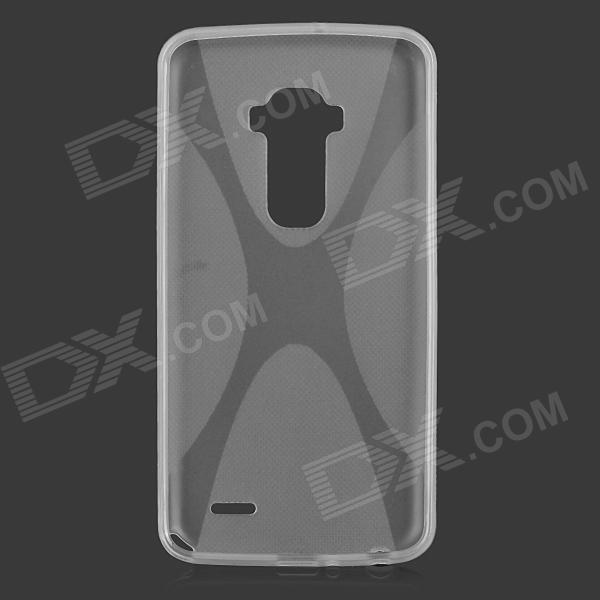 """X"" Style Protective TPU Back Case for LG G-Flex - Translucent White"