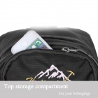 HUJF 0915 Outdoor Nylon Hiking Mountaineering Backpack Bag - Black + Grey (40L)