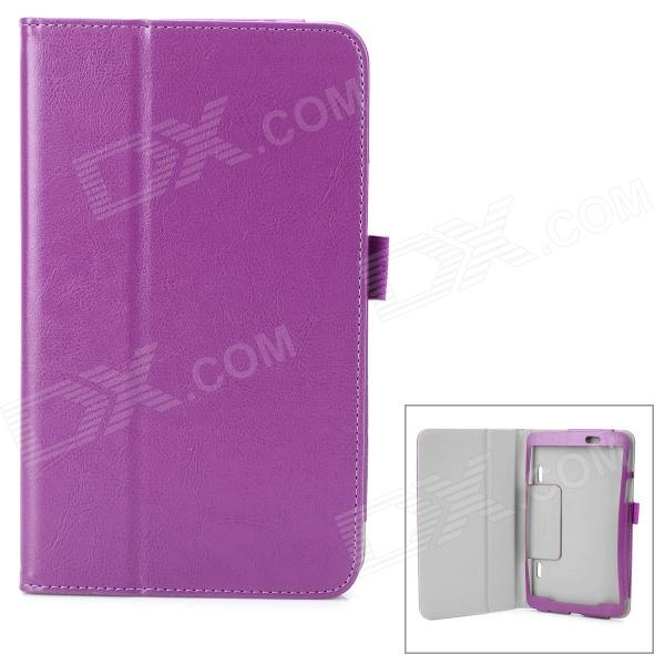 Protective Flip-open 2-Fold PU Leather Case w/ Holder for LG G Pad 8.3 - Purple yi yi protective tpu back case cover w screen protector for lg g pad v500 purple