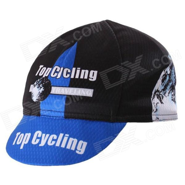 TOPCYCLING Fashion Outdoor Sports Sweat-absorbent Hat - Black + Blue (Free Size)