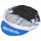 Upcycling Fashion Outdoor Sports Sweat-absorberende Hat - Sort + Blå (Free Size)