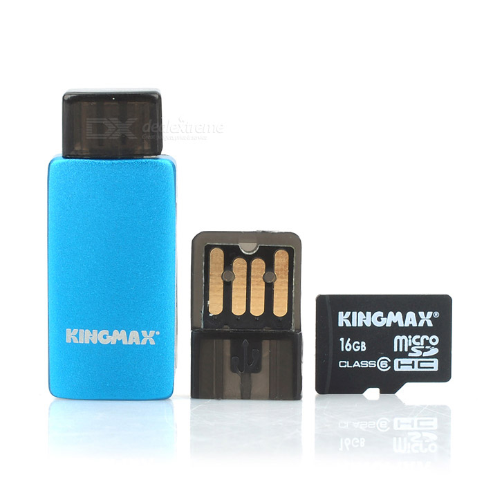 KINGMAX Class 6 16GB Micro SDHC / TF Card w/ Card Reader Set