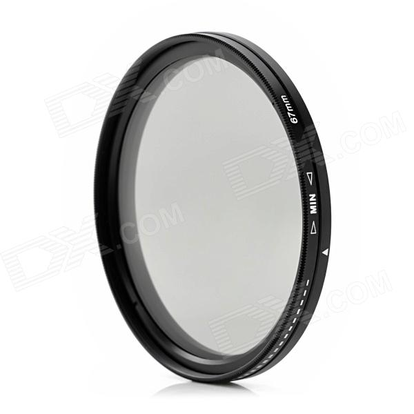 ND2-400 Variable ND Filter for 67mm Lens Camera - Black + Transparent zomei 6in1 filter kit 67mm ring holder 150x100mm gradual nd4 full nd2 nd4 nd8 neutral density square nd filter for cokin z