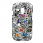 Protective TPU Back Case for Samsung Galaxy S3 Mini i8190 / i8160 - Black + Grey