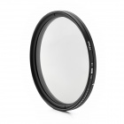 ND2-400 Variable ND Filter for 77mm Lens Camera - Black + Transparent