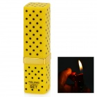 Lipstick Shaped 1:1 Butane Gas Lighter - Black + Yellow