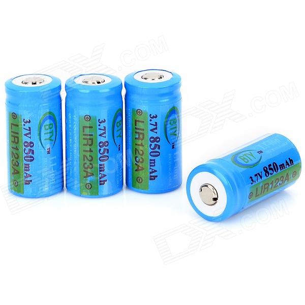 BTY 123A(16340) Rechargeable 123A Batteries w/ Battery Box (4 PCS)