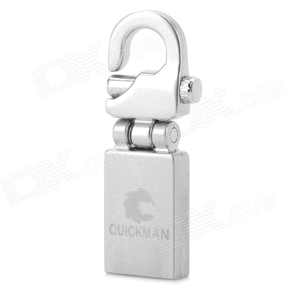 Mini Stainless Steel Keychain USB 2.0 Flash Drive - Silver (32GB)