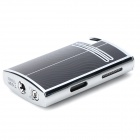 862 Elegant Windproof Butane Gas Jet Lighter - Black + Silver