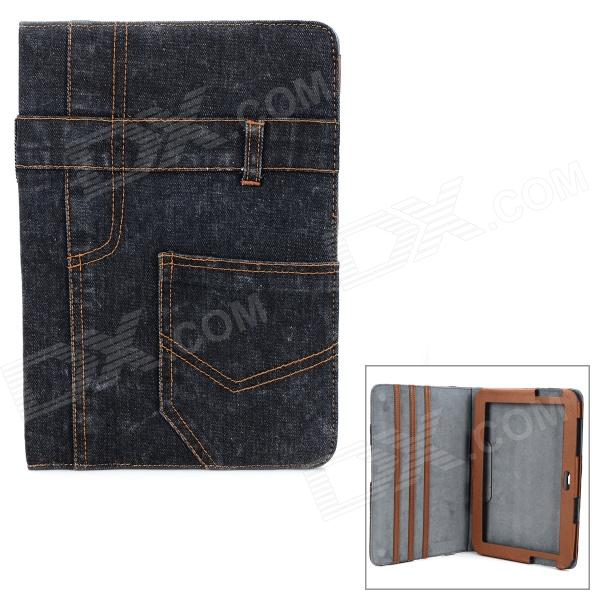 Protective Jeans + PU Holder Case for Samsung Galaxy Note 10.1 N8000 - Ash Black планшет samsung galaxy note 10 1 16gb gt n8000 black