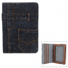 Protective Jeans + PU Holder Case for Samsung Galaxy Note 10.1 N8000 - Ash Black