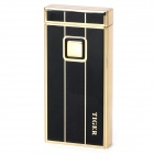 Touch Windproof Butane Gas Jet Lighter - Black + Golden