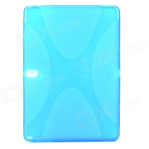 Protective TPU + PVC Case w/ Screen Protector for Samsung Galaxy Note 10.1 2014 Edition P600 - Blue protective tpu pvc case w pet screen protector for samsung galaxy note 10 1 2014 edition p600