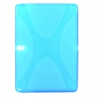 Protective TPU + PVC Case w/ Screen Protector for Samsung Galaxy Note 10.1 2014 Edition P600 - Blue