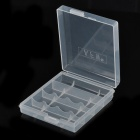 4 x AA / 5 x AAA Batteries Storage Box - Translucent White