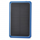 Portable 4000mAh Solar Powered Power Bank for Cellphone / PSP / MP3 / MP4 + More - Black + Blue