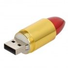 Lipstick Style USB 2.0 Flash Drive - Black + Golden + Red (8GB)