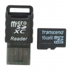 Transcend Class 10 16GB TF Card + Card Reader Set - Black (16GB)