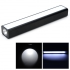 9a T50 5V 8000mAh Li-ion Polymer Battery Power Bank w/ LED Flashlight - Black + White