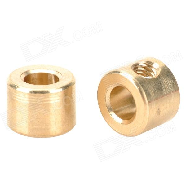 GD-01 Brass Fixed Connector for DIY - Golden (2 PCS) lot5 push in connector elbow union 8mm 1 2 thread replace smc kq2l08 04s